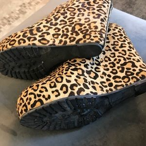 🐾Matiko Animal Print Pony Hair Platform Booties🐾